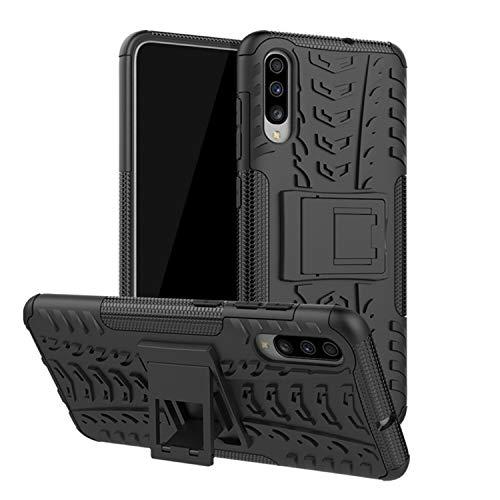 betterfon | Outdoor Handy Tasche Hybrid Case Schutz Hülle Panzer TPU Silikon Hard Cover Bumper für Samsung Galaxy A70 SM-A705 Schwarz (Handy Hard Case)