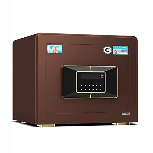 Smart Safe Home Mini Safe Yale Schloss alle Stahl Fingerprint Box intelligente diebstahlsicherung versteckte Panel 10 MM schranktür Dicke (Color : Brown, Size : 30 * 38 * 30cm)