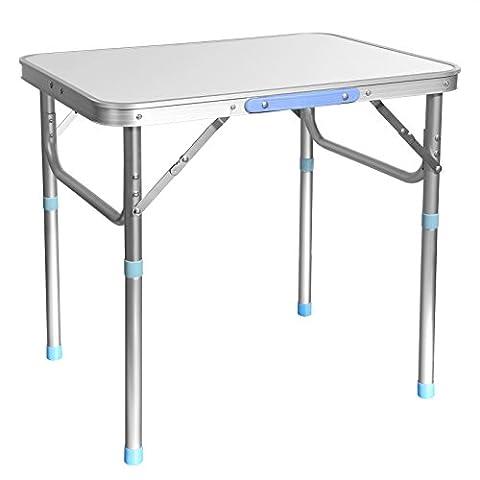 Ancheer Aluminum Portable Folding Heavy Duty Outdoor Camping Picnic Party Garden Table