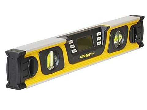 Stanley FatMax Neigungsmesser, digitale Wasserwaage in Grad|Prozent|mm/m, 40cm Länge, LCD-Anzeige, 0-42-063