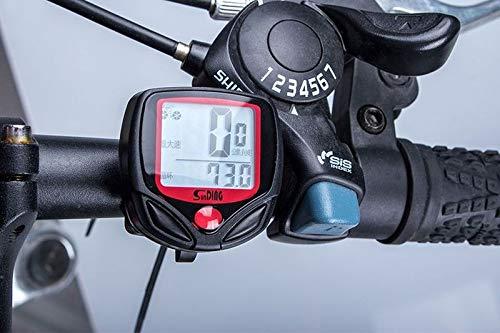 Cartshopper Bicycle Computer Leisure 14 Functions Waterproof Cycling Odometer Speedometer with LCD Display Bike Computers