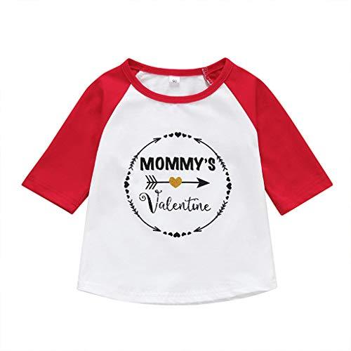 feiXIANG Kinderkleidung Kleinkind Brief T-Shirt Outfits beiläufige Baby Kleidung Mädchen Jungen Sweatshirt ()