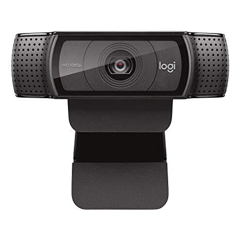 E-gear Logitech C920e / C920 HD Webcam, Full HD 1080p Video Chiamata e Registrazione, Dual Stereo Audio, Stream Gaming - Nero (Senza treppiede)