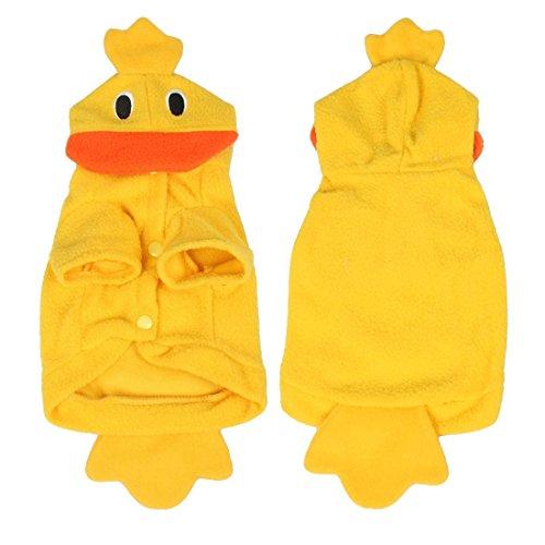 SODIAL(R)Halloween Kostuem Art Gelb Ente Vlies Hund Kleidung - XS