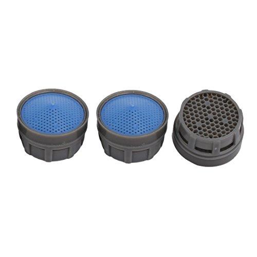 sourcing map 3pcs Aérateur filtrage gris bleu Robinet Plastique ABS Accessories
