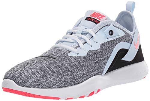 Nike Damen Women\'s Flex Trainer 9 Turnschuh, Half Blue/Red Orbit-Black-White, 39.5 EU