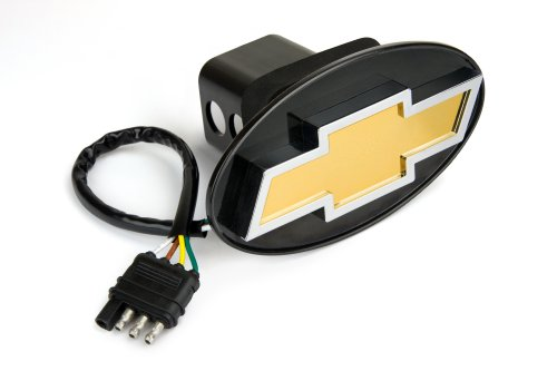 Reese Towpower 86062 Licensed LED Hitch Light Cover with Chevy Bow Tie Logo (Hitch Cover Light)