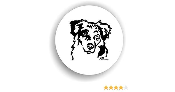 Amberdog Hunde Australian Shepherd Sticker Auto Aufkleber Art Stk0146 Autoaufkleber Aufkleber Wohnmobil Wohnwagen Küche Haushalt