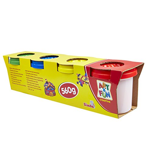 Steal a Deal Children's Play Dough Pack of 4 Toy Craft Modelling Doh (Red, Yellow, Blue, Green)