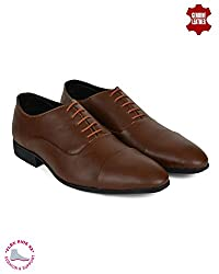 Ziraffe FAMOS Tan Mens Formal Shoes (10 UK)