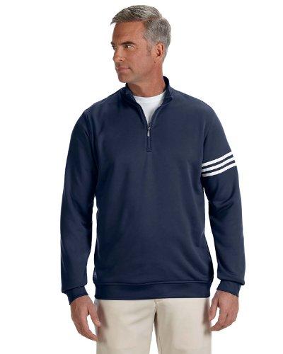 Uomo Adidas ClimaLite® three-stripe French Terry pullover-a190 Navy/ White