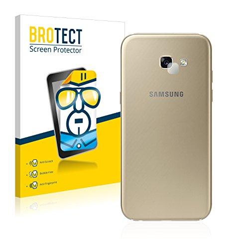 2x BROTECT Displayschutzfolie Samsung Galaxy A5 (Kamera Rückseite, 2017) Schutzfolie Folie - Klar, Anti-Fingerprint (Kamera-tasche Samsung)
