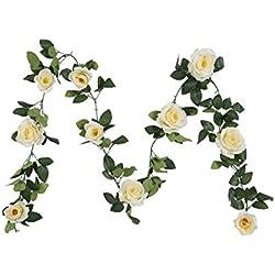 Guirnalda de flores de seda artificial, diseño vintage, ideal para decoración de boda