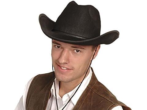 Chapeau de cowboy Wild West Western country mexicain taille unique pour adulte de très haute qualité lux très classe l'accessoire festif idéal pour les fêtes pour se déguiser ou marquer l'événement déguisement pour femme homme animation spectacle theatre festival carnaval, choisir:Chapeau de cow-boy noir 04071