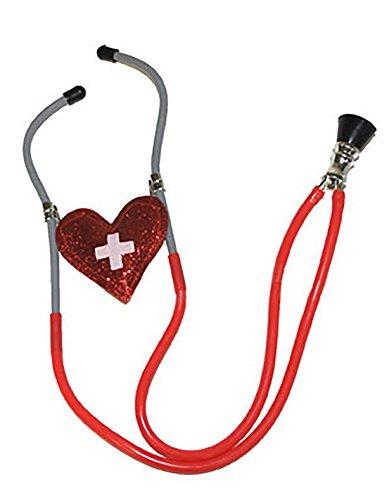 erdbeerclown - Liebes Stethoskop - Verkleidung Abhörgerät Herz, Mehrfarbig