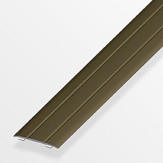 Übergangsprofil flach/selbstklebend; 37mm/200cm Alu eloxiert bronze