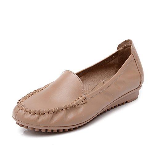 Asakuchi chaussures fond mou féminin/Maman chaussures chaussures antidérapantes grande taille/Chaussures de femme fond plat femmes d'âge moyen A