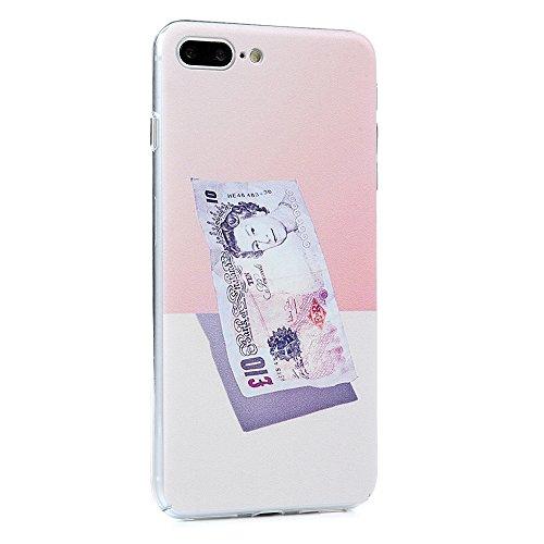YOKIRIN iPhone 7 Hülle iphone 7 PC Hard Case Cover Bunt Painted Gemalt Transparent Rand Schutzhülle Handy Case Hartschale Skin Muster:Elefant Sterling