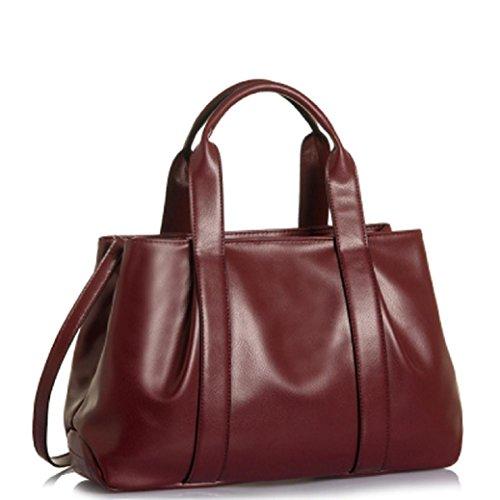 Fami Vintage Luxury Women Leather Large Shoulder Bag