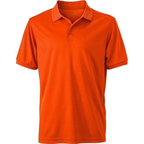 JAMES & NICHOLSON -  Polo  - Basic - Con bottoni  - Maniche corte  - Uomo Arancione