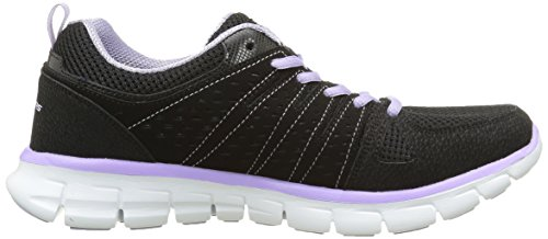 Skechers Synergy Look Book, Baskets Basses Femme Noir (Bklv Noir/Mauve)