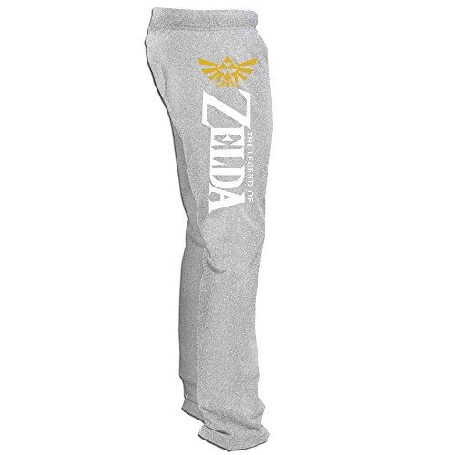 Bode Herren Zelda Logo Sweatpants, Herren, asche (Neuheit Nike)