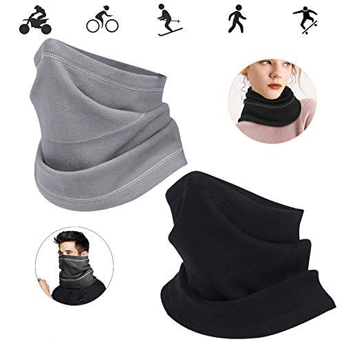 WENTS Funktionstücher für Herren Multifunktionstuch Unisex Micro Fleece Mask Windproof Pilling Resistant Für Walking Running Motorradfahrer 2St