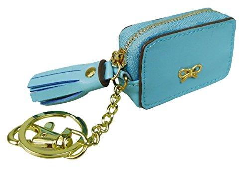 Kukubird Pièce Polyvalente Variations Les Aliments Pour Animaux Mignons Emoji Bus Cassette Tv Portefeuille Coloré Embrayage Bow Light Blue