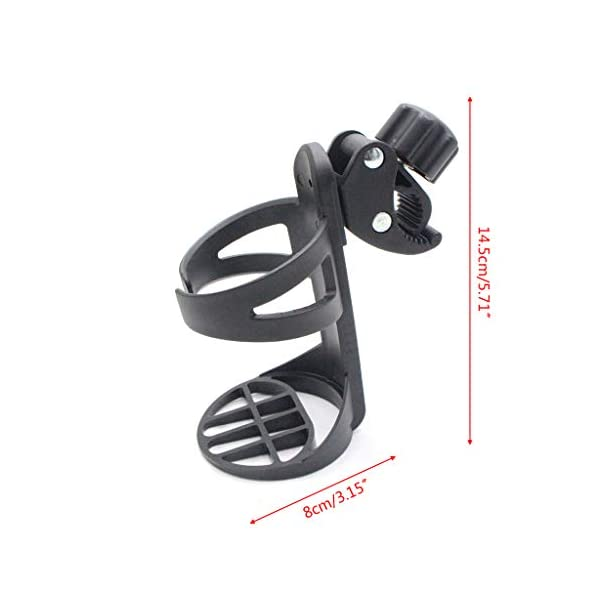 FATTERYU New Baby Stroller Cup Holder Children Four-wheeled Umbrella Tricycle Universal Accessories Portable Bottle Frame FATTERYU Material: PP Made from highquality materials, this stroller cup holder is durable and resistant to damage. Good toughness, large diameter, and stable support. 3