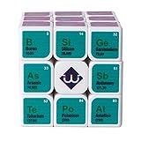 NESST Magic Cube Puzzle Toys Portable Rubik'S Speed Cube para Adultos Matemáticas Química Personalidad Creativa Fibra De Carbono Giro Entrenamiento Cerebral Juego Juguete Educativo 3X3x3,White