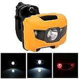 BQLOVE 1 STÜCKE Fahrrad Scheinwerfer Wasserdichte LED Starken Kopf Licht Mit Rot Warnlicht Outdoor Nacht Reiten Tragbare Warnlicht