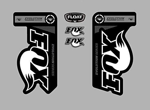 PEGATINAS HORQUILLA FOX FLOAT EVOLUTION FDP02 STICKERS AUFKLEBER DECALS AUTOCOLLANTS ADESIVI (GRIS)