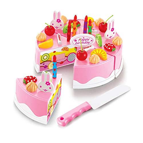 e Kunststoff süße Kinder Kinder küche Spielen Rolle Spielzeug DIY lustige schneiden Geburtstag Kuchen Pretend Play Lebensmittel Spielzeug ()
