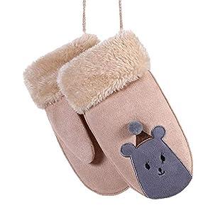 Longra Handschuhe Kinder Baby Cartoon Fleecehandschuhe Skihandschuhe Warm Winterhandschuhe Strickhandschuhe Wollhandschuhe Jungen Mädchen Fingerhandschuhe Fingerlose Handschuhe