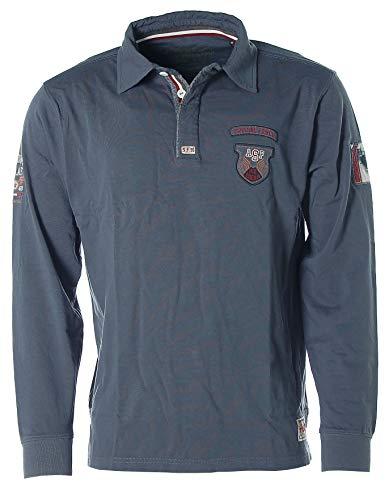 Kitaro Herren Langarm Poloshirt Polo Shirt -Special Forces Search & Rescue Crew- Bl.
