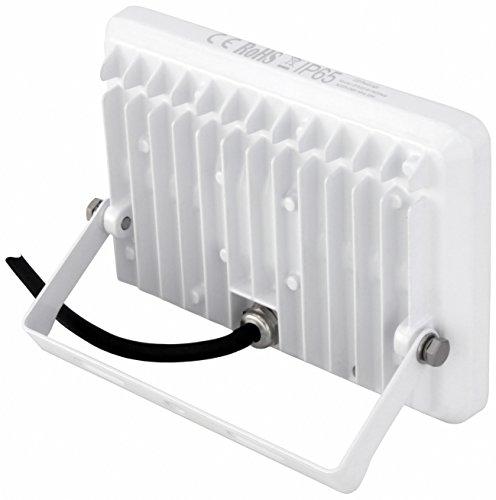 AdLuminis LED Fluter mit Integriertem Bewegungsmelder, 10W 20W 30W Flutlicht-Strahler, Energieklasse A++, Aluminium-Gehäuse, IP65 Strahler für außen (20w weiß) - 2