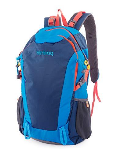 blnbag S2 - Leichter Fahrradrucksack, Sportrucksack, Reiserucksack für Camping + Wandern, Backpack Freizeitrucksack mit 2 Hauptfächern, Unisex, 20 Liter, Ocean Blue