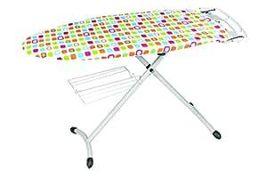 Housse de repassage carrés multicolores - Molleton épais - 140x50cm