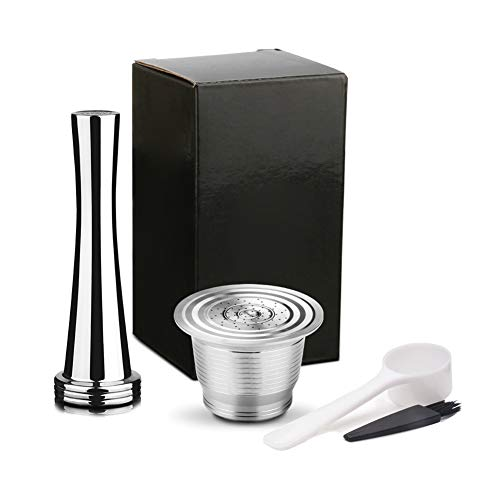 MAyouth Edelstahl Reusable nachfüllbar Coffee Pod Filter mit Presse Tamper Coffeeware Set