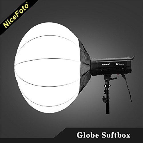 Globe-diffusor (Nicefoto 50cm faltbar Sphere Softbox Papier Laterne Ball Form Globe Diffusor w/Bowens Halterung für Studio Flash Strobe)