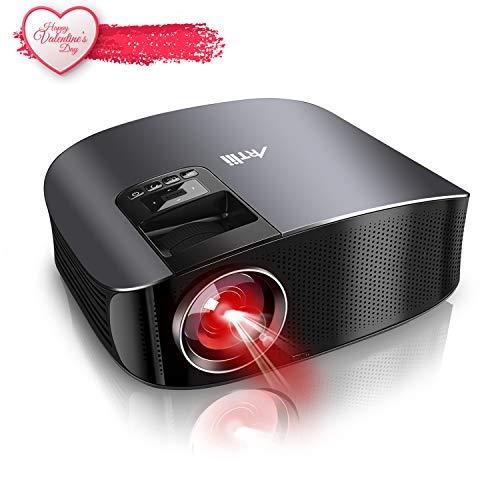 Artlii Vidéoprojecteur Full HD, Rétroprojecteur Faible Bruit, Compatible Chromecast, Clé USB, iPhone, PC, Console de Jeu Regarder Football, Jeux Video, Films ( Noir )