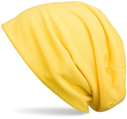 styleBREAKER Bonnet tombant classique type Beanie, léger et souple, Beanie long, unisexe 04024018 Jaune