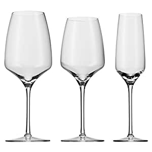 WMF Gläser-Set, Sektglas, Weinglas, Weißweinglas, Rotweinglas, Bordeauxglas, spülmaschinengeeignet, 18-teilig