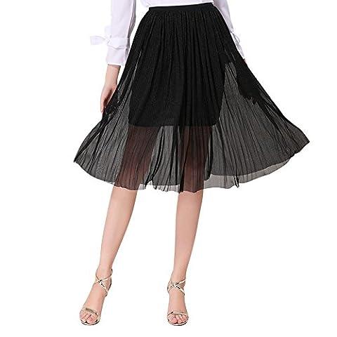Jupe Crepon - QincLing Femmes Taille elastique Slim Fit Jupe