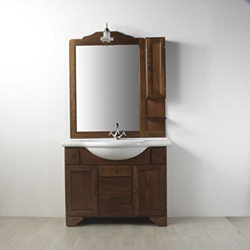 Mobile arredo bagno in arte povera lavanda da 105 cm