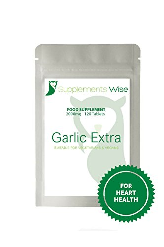 Garlic-Tablets-2000mg-High-Strength-Garlic-Extract-Supplement-Benefits-To-Cardiovascular-Heart-Health-Blood-Sugar-And-Metabolism-Potent-Antioxidant-Supporting-A-Healthy-Immune-System