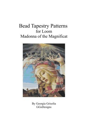 Bead Tapestry Patterns  for Loom Madonna of The Magnificat  by Botticelli