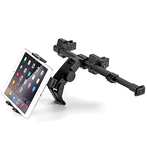 iKross Universal KFZ-Kopfstützen Halterung für Tablet von 7 bis 10.2 Zoll mit 360 Grad-Rotation - Schwarz