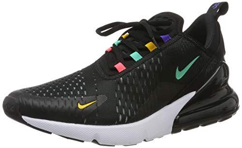 Nike Herren AIR MAX 270 Gymnastikschuhe, Schwarz (Black/Flash Crimson/Univ Gold/Psychic Purple/Kinetic Green/White 023), 42 1/2 EU