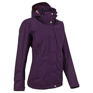 Quechua Arpenaz 300 Rain Jacket, Women's Small (Black)